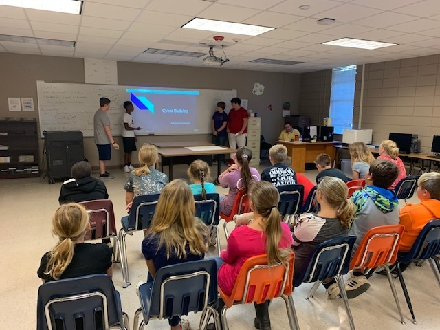 8th Graders Teach 5th Graders about the Different Type of Bullying