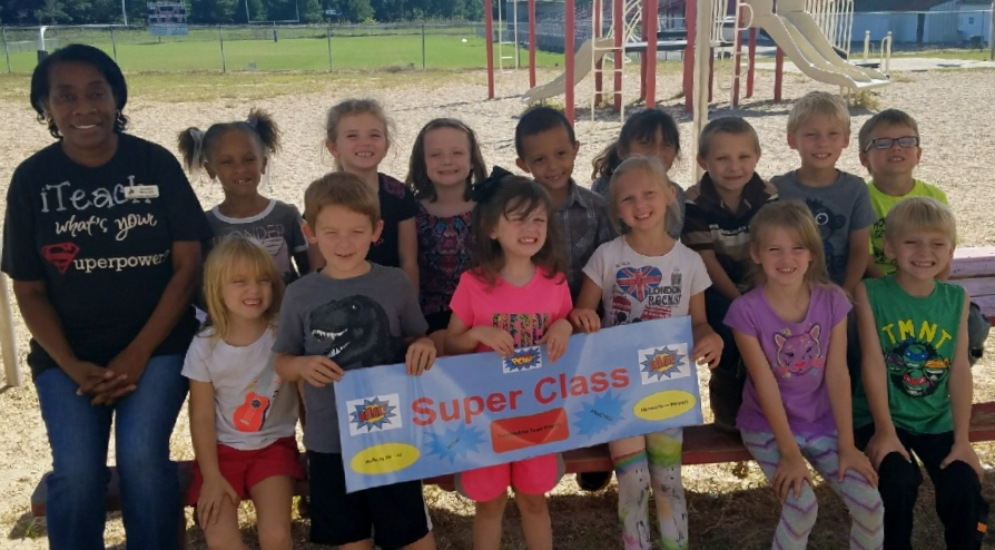 Mrs. Winright's Class with Their Super Class Award