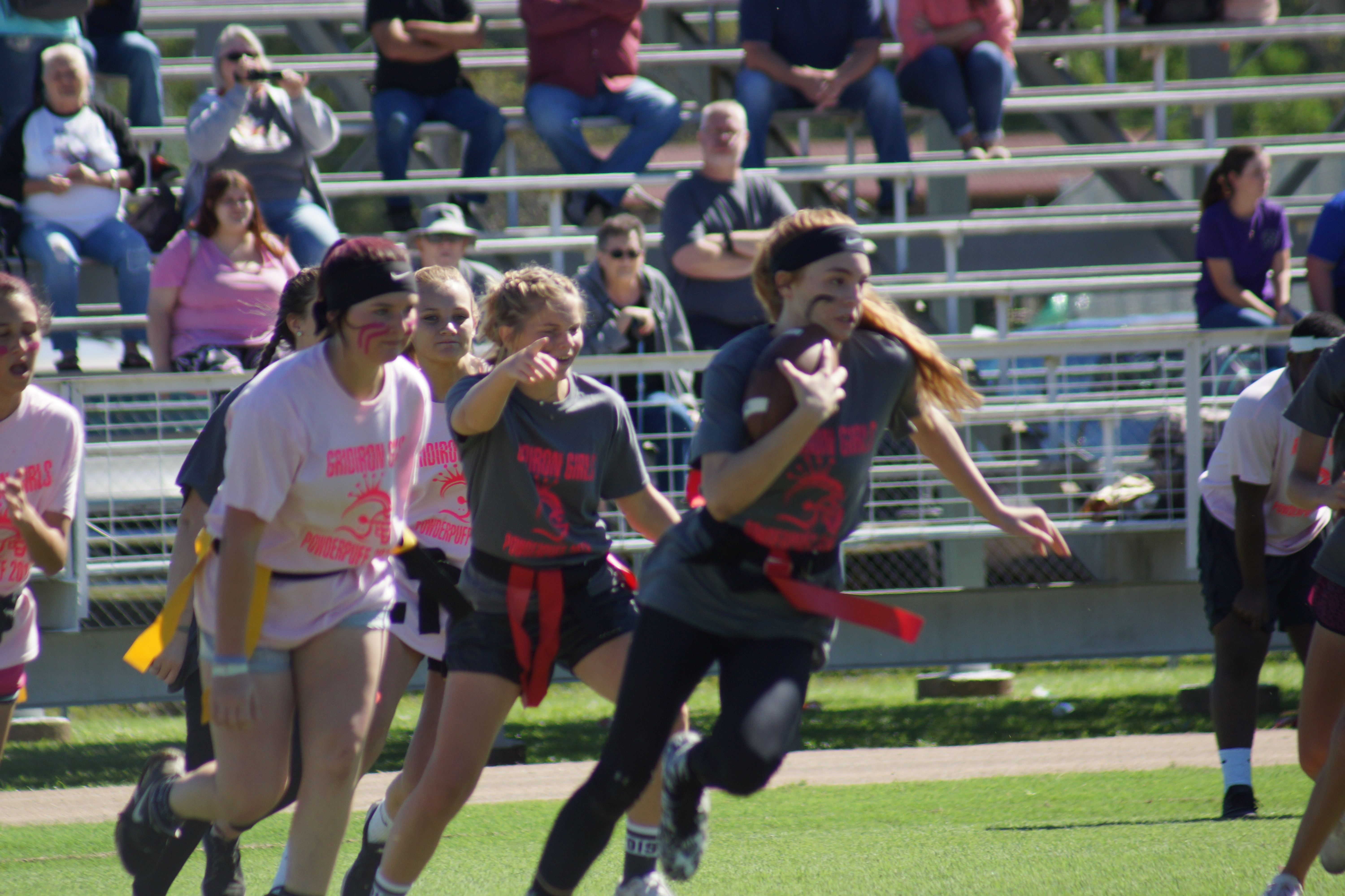 Students Play Power Puff Football