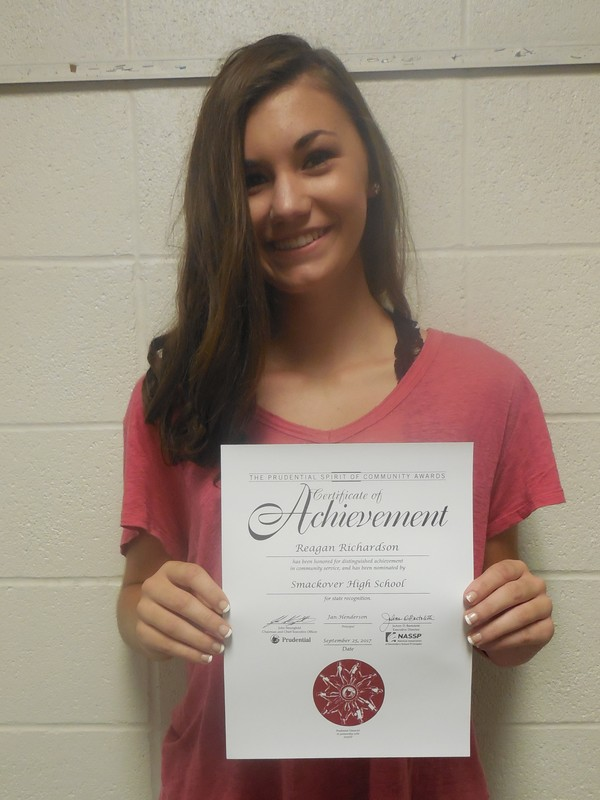 SHS Student Named as Prudential Spirit of Community Award Recipient