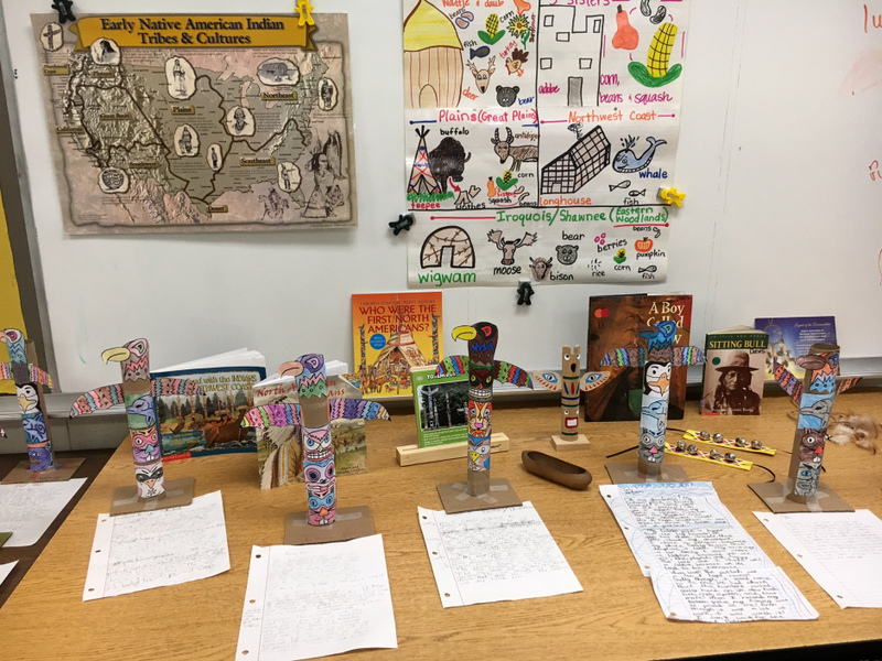 SES Students Create Native American Study