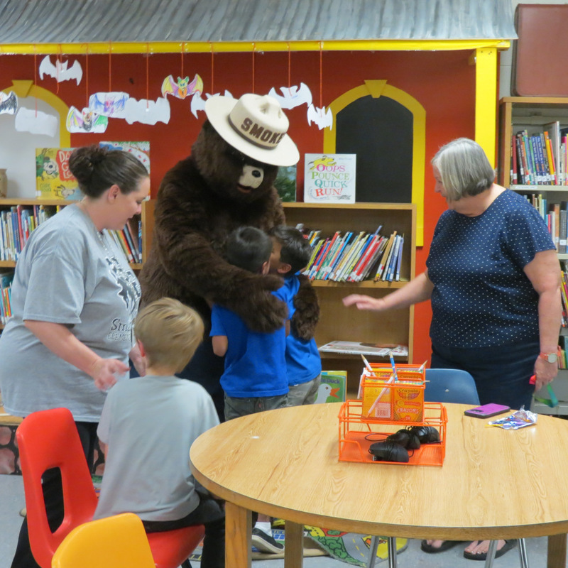 Smokey the Bear Visits SES 3