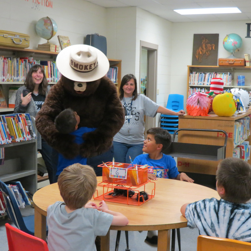 Smokey the Bear Visits SES 4