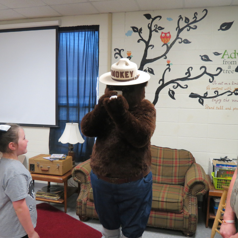 Smokey the Bear Visits SES 5