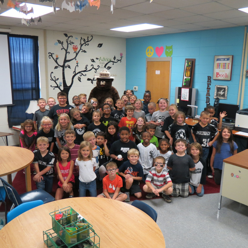 Smokey the Bear Visits SES 7