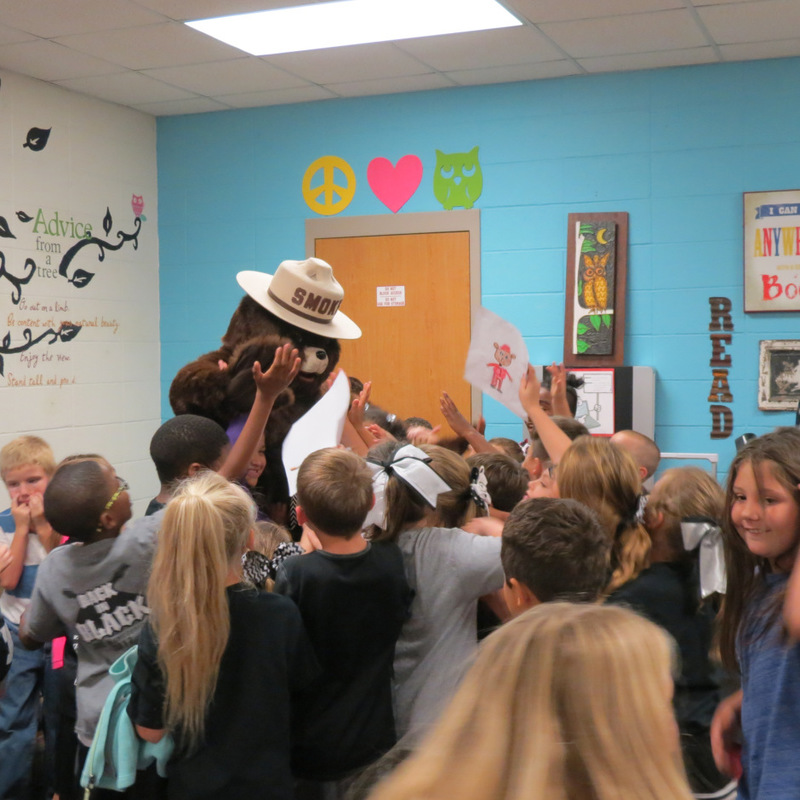 Smokey the Bear Visits SES 8