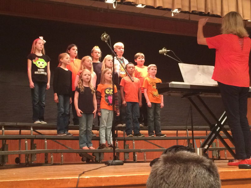 NES Choir Students Follow Their Director