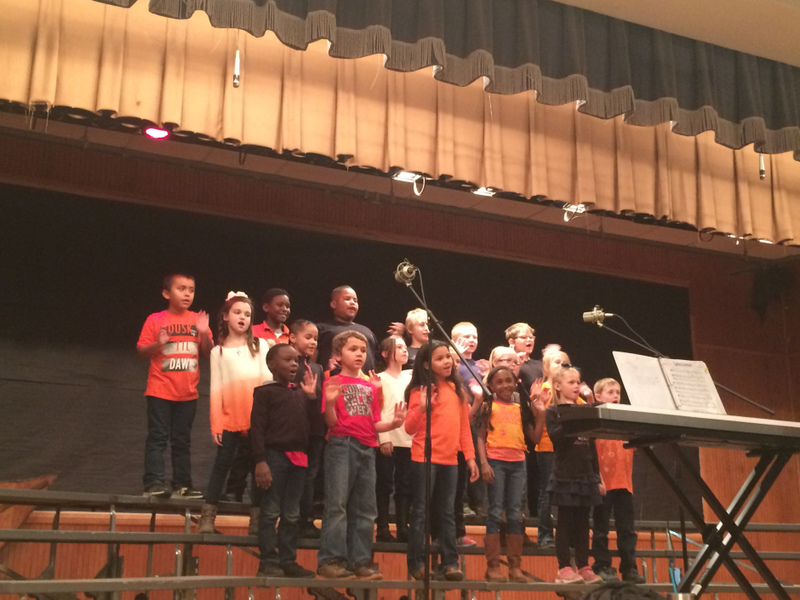 Choir Students Sing About Super Heroes