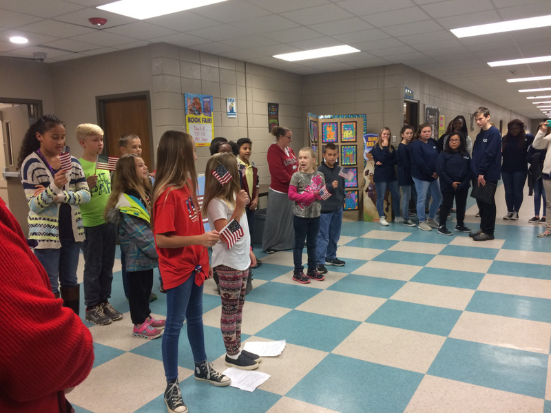 NES Students Celebrate Veterans