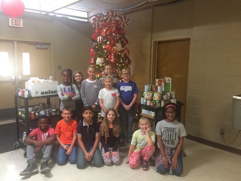 NES Students Collect Canned Foods for Food Pantry