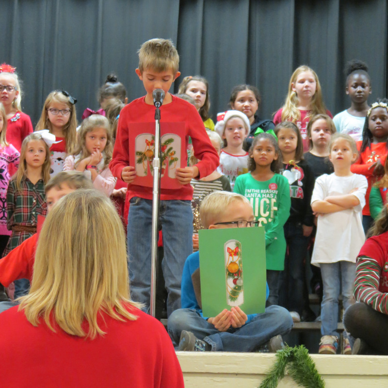 SES Student Speaks at Christmas Program