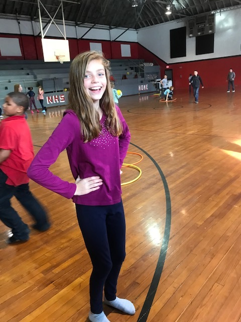 Student Poses at Sock Hop
