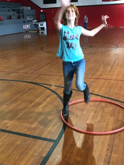 Playing with the Hula Hoop