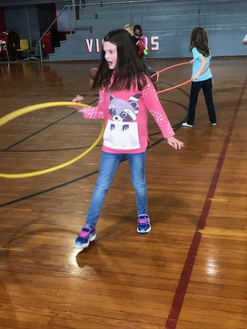 NES Student Hula Hoops for Fun