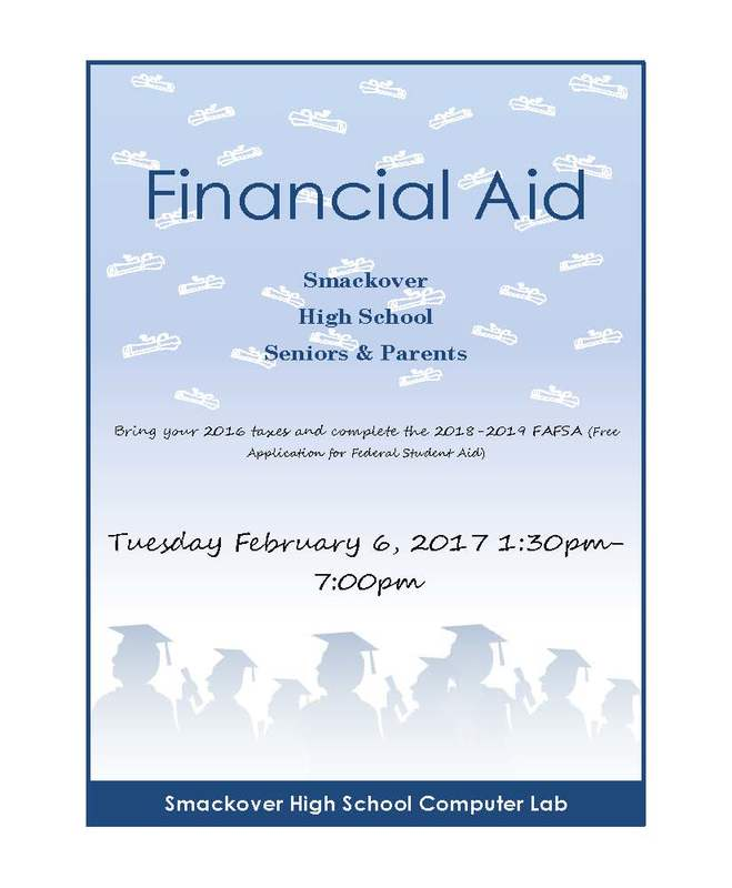 Financial Aid Night Flyer (February 6, 2018, at SHS, from 1:30 to 7 PM