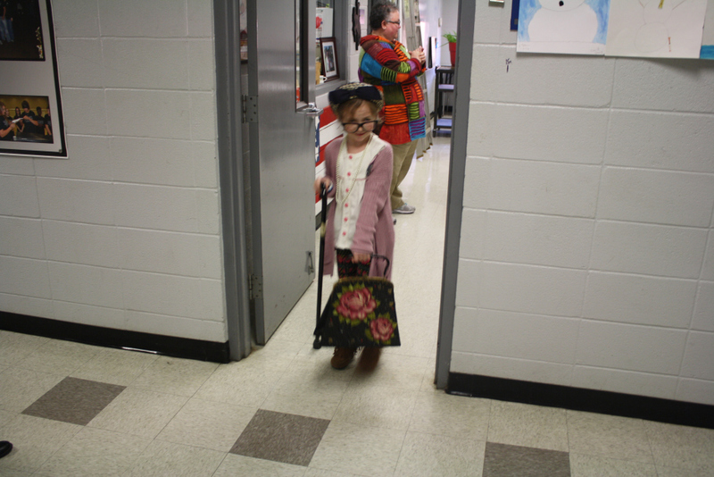 SES Student Dresses as 100 Year Old