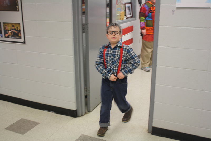SES Student Dresses as Old Man