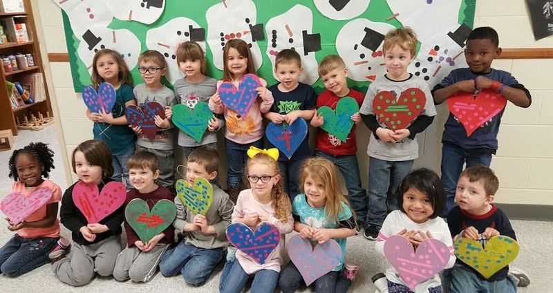 SPS Students Take Valentine Painting Class