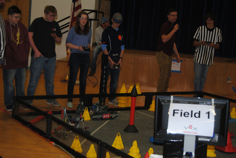 NMS Students Race Robots