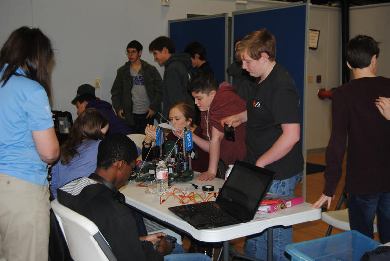 NMS Students at Robotics Competition