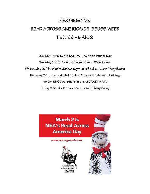 Read Across America informational flyer