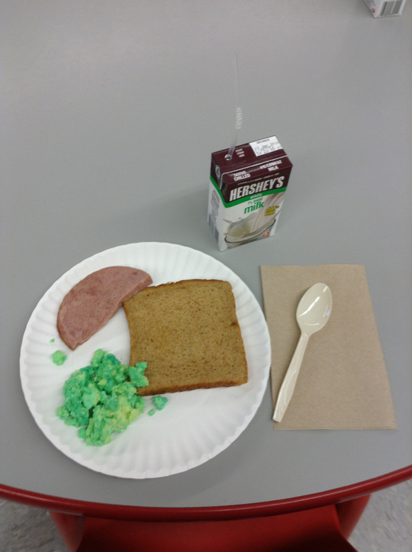 Breakfast of Green Eggs and Ham