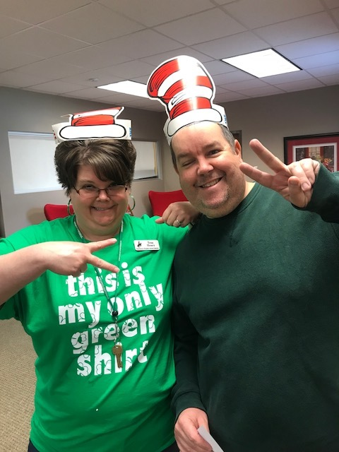 Teachers Wear Seuss Hats