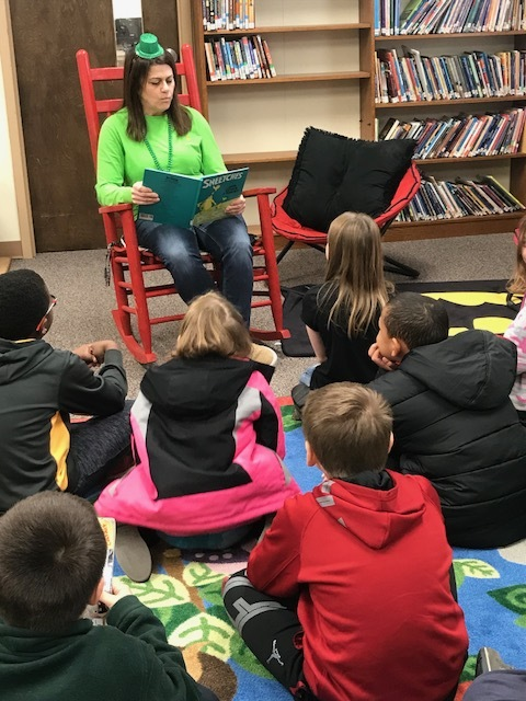 SES Librarian Shares Story with NES Students