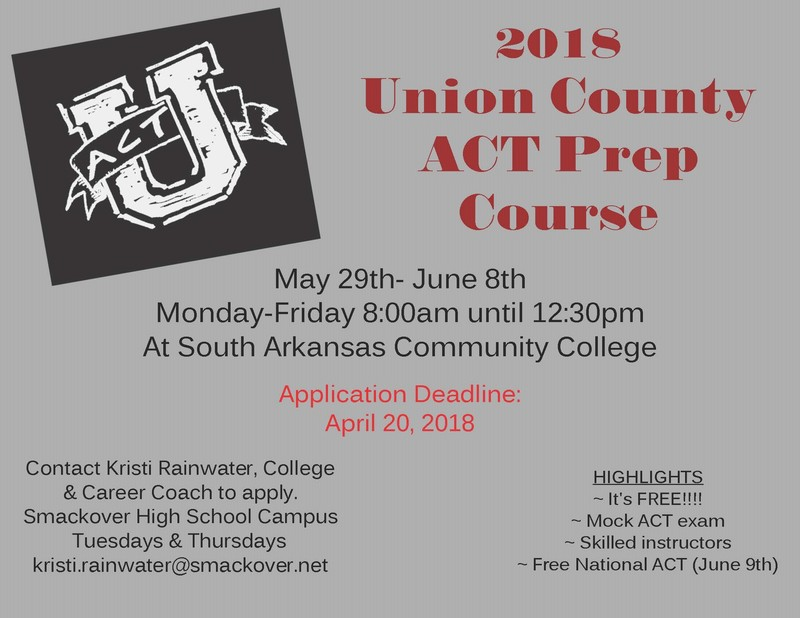 ACT Prep Course Offered by SACC
