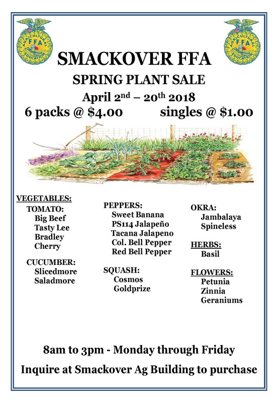 Smackover FFA Plant Sale Flyer