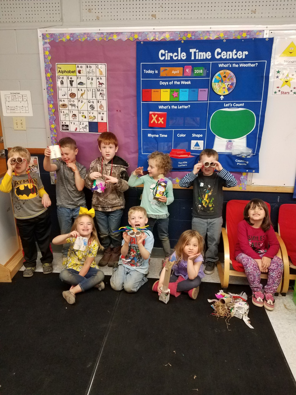PreK Students Learn to Recycle