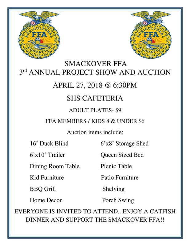 FFA Project Show and Auction Flyer