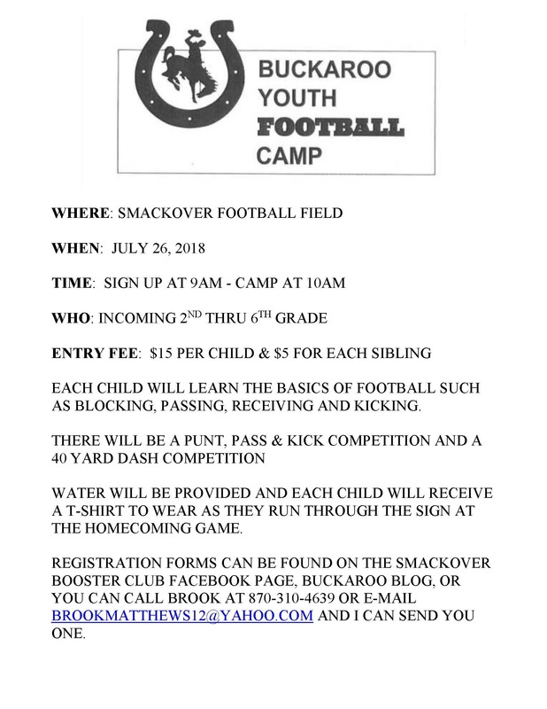 Buckaroo Youth Football Camp, 2018