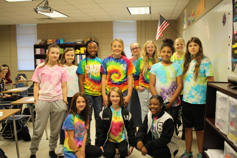 NMS Students Show Their School Spirit by Wearing Tie Dye