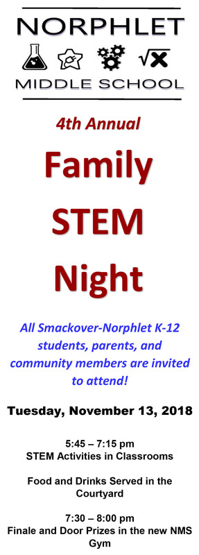Save the Date for Family STEM Night