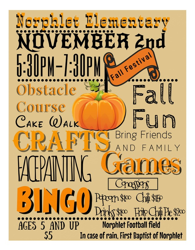 NES Fall Festival flyer