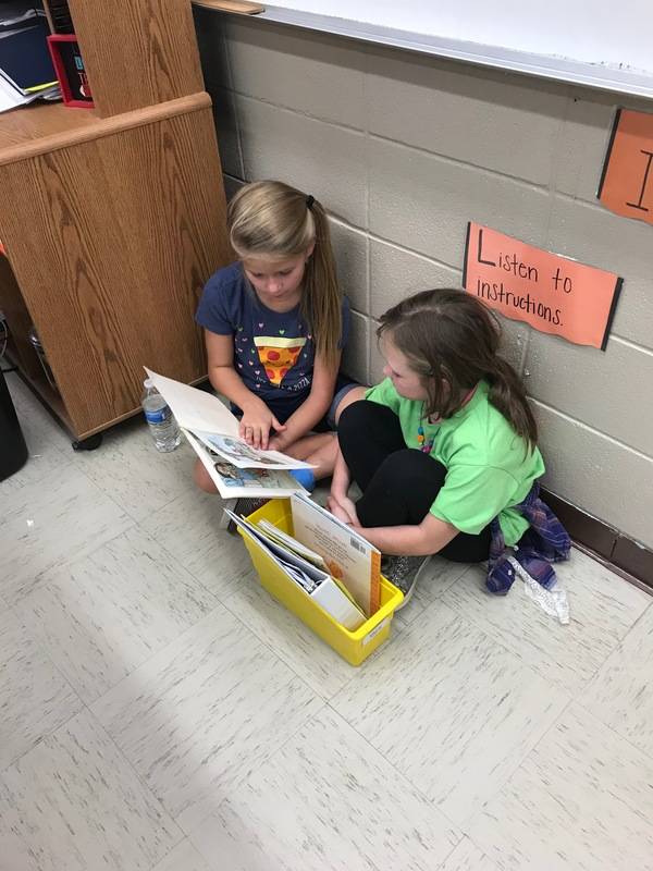 NES 5th Graders Read to 2nd Graders