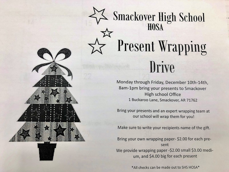 HOSA Present Wrapping Drive flyer