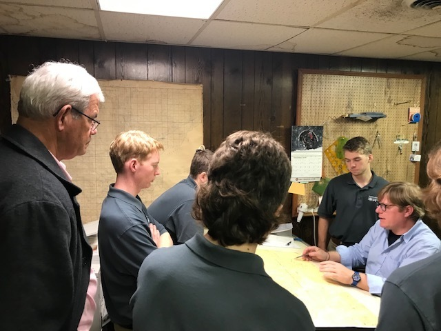 SHS Engineering Students Meet with Surveyors