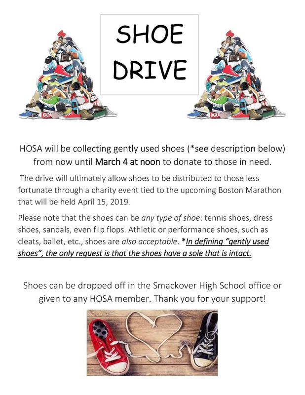 HOSA Shoe Drive flyer