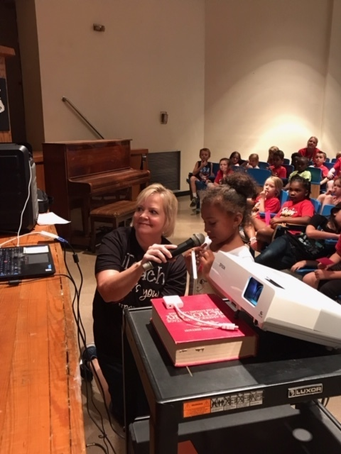 Elementary Students Visit with Author