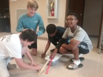 NMS STUDENTS STUDY NEWTON'S LAW