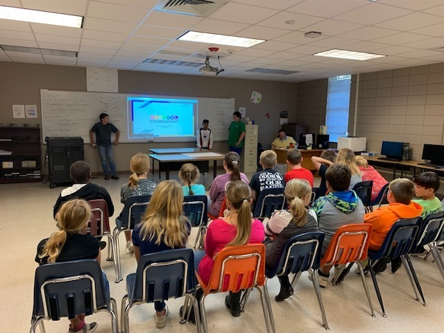 Group of 8th Graders doing a presentation on bullying in Front of a class of 5th graders Picture 2