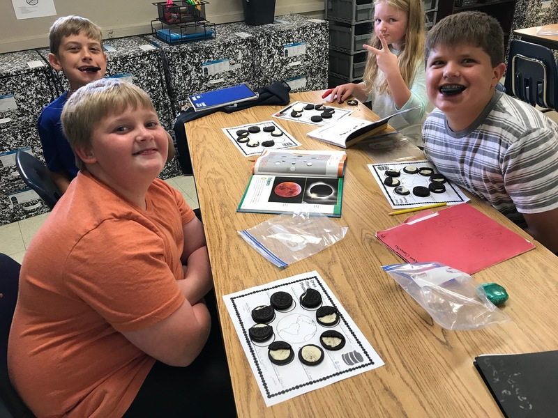 Mrs. Holloway's Students Showing of their phases of the moon