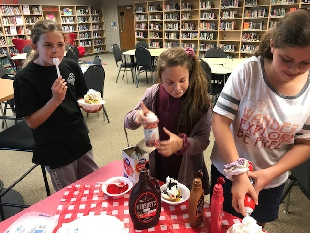 NMS Students putting Toppings on Their Ice Cream Pic 3