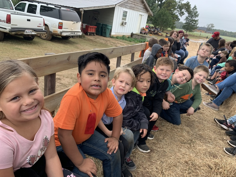 1st grade visits The Pumpkin Patch.