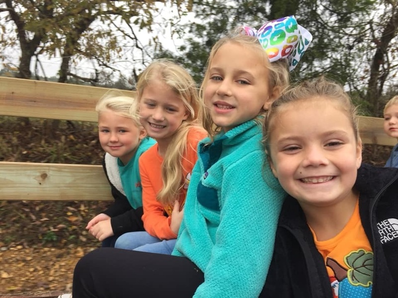SES Students on a Hay Ride in the Pumpkin Patch